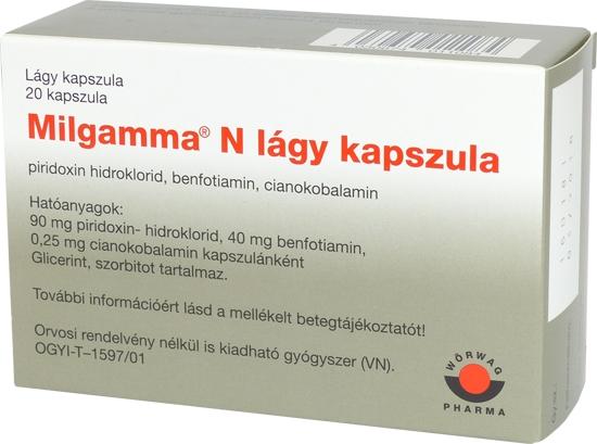 MILGAMMA N lágy kapszula - Gyógyszerkereső - Hádynarec.hu